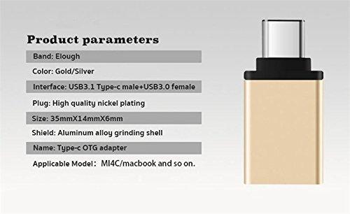 Chromebook Pixel Nexus 6P y m/ás dispositivos de cable USB tipo C y micro USB 2 Pack Gold /& Slive Adaptador USB tipo C OTG JX2 USB 3.1 a USB 3.0 compatible con MacBook Nexus 5X