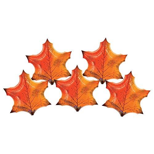 Set of 5 Orange Fall Maple Leaf 25