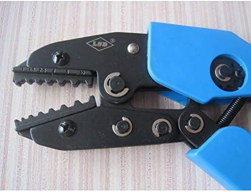 ケーブルカッター ラチェット 非絶縁端子圧着ペンチ 圧着範囲1〜10mm² 六角型 ハンド圧着工具 手動ケーブルカッター