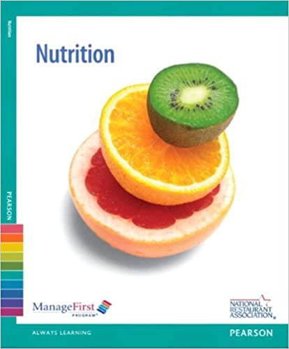 Book Manage First: Nutrition with Answer Sheet (Managefirst Program) by Association Solutions National Restaurant Association (2012-09-25)