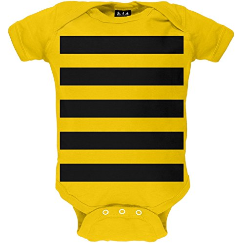 Baby Bumblebee Outfit (Halloween Bumblebee Bee Baby One Piece - 3-6 months)