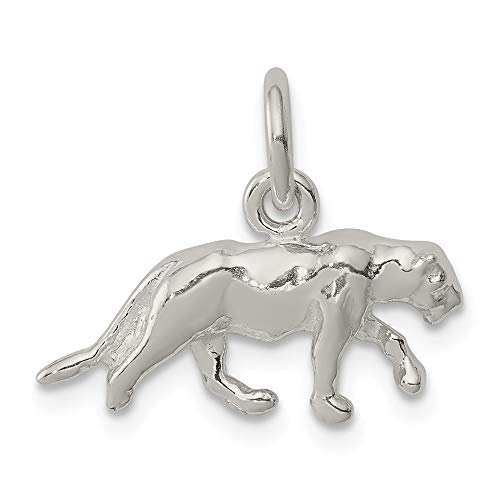 925 Sterling Silver Panther Pendant Charm Necklace Animal Fine Jewelry Gifts For Women For -