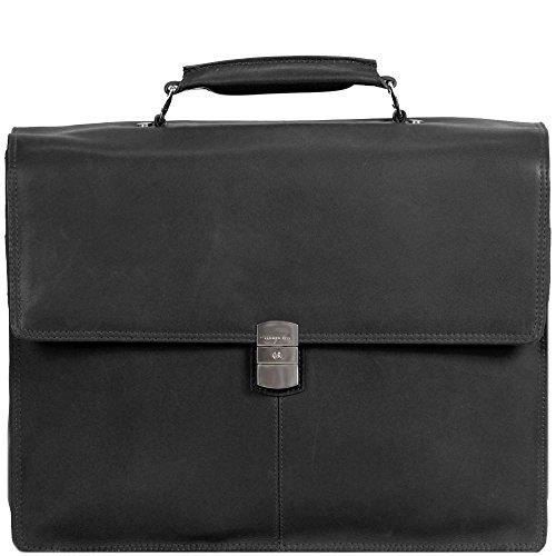 Harolds Country Aktentasche Leder 39 cm Laptopfach Schwarz xDudz5Ro