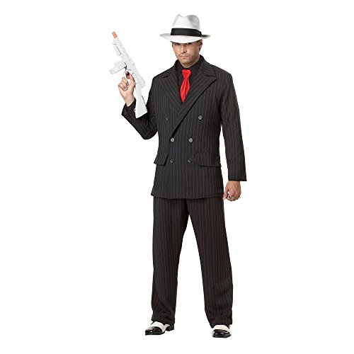 [Gangster Mob Boss Adult Costume] (Girl Mob Boss Costume)