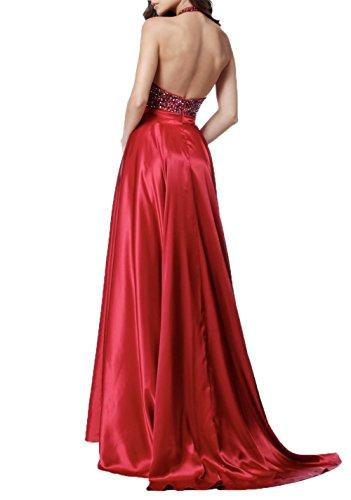 Abendkleider mit Grün Damen Steine Ballkleider Ausschnitt Elegant Tief V Brautmutterkleider Zahlreichen Charmant Rot S1qazY