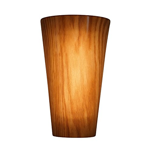 It's Exciting Lighting IEL-2625G High Gloss New Finish Indoor And Outdoor Lighting Sconce, Vivid Cherry And Pecan, Battery Powered With Timer, Lightweight And Mobile ()