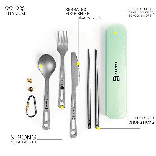 Outdoor Camping Tableware Titanium Alloy Chopsticks For Hiking Traveling U/_ti