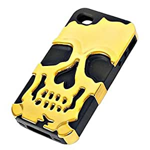 DD 3D Silicone and Metal Fashion Cool Skulls Back Case Cover for iPhone 6(Assorted Colors) , Golden