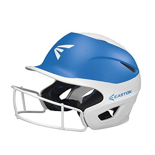 - EASTON PROWESS Fastpitch Softball Batting Helmet with Mask | M / L | Matte White Carolina Blue | 2019 | Multi-Density Impact Absorption Foam | High Impact Resistant Lightweight Shell | BioDRI Liner