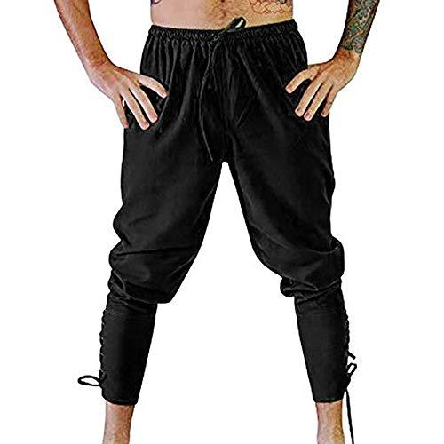 Hombre Recto Negro Ocasionales Chándal Otoño La es con Color Joggers Moda Laborales Hombre MúLtiples Casuales Sólido ALIKEEY Cordones para FxwvpqRw4