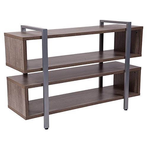 Flash Furniture Harrison Rustic Wood Grain Finish TV Stand and Media Console