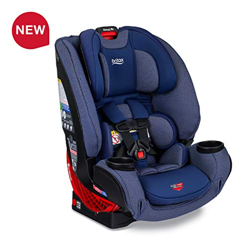 Britax One4Life ClickTight All-in-One Car Seat – 10 Years of Use – Infant, Convertible, Booster – 5 to 120 pounds – SafeWash Fabric, Cadet