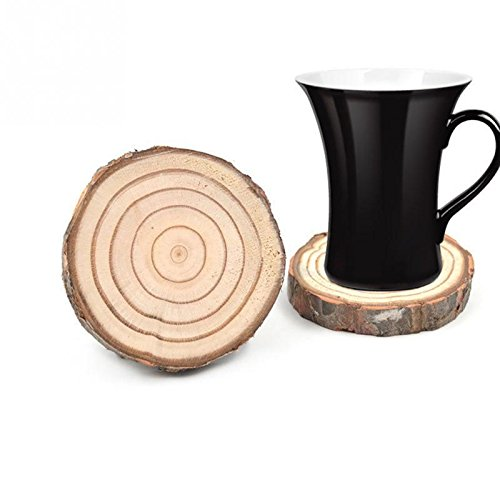 5 sizes Natural Round Wooden Slice Cup Mat Coaster Tea Coffee Mug Drinks Holder for DIY Tableware Decor Durable