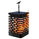 Solar Flame Lights Solar Hanging Lanterns Dancing Flicking Flame Outdoor Waterproof Decoration Umbrella Lantern Night Lights for Garden Patio Yard