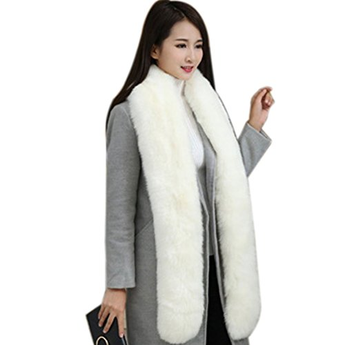Men Women Winter Warm Faux Fox Raccoon Fur Collar Stole for sale  Delivered anywhere in USA