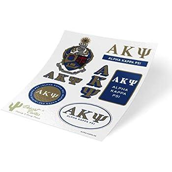 Amazon Com Alpha Kappa Psi Standard Sticker Sheet Decal