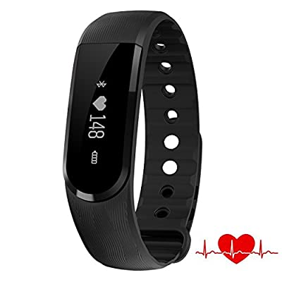Heart Rate Monitor Watch,007plus D101 IP67 Waterproof Heart Rate Monitor Fitness Tracker Armband Sleep Monitor with Bluetooth 4.0 Pedometers Activity Tracker for Android iOS Smartphone