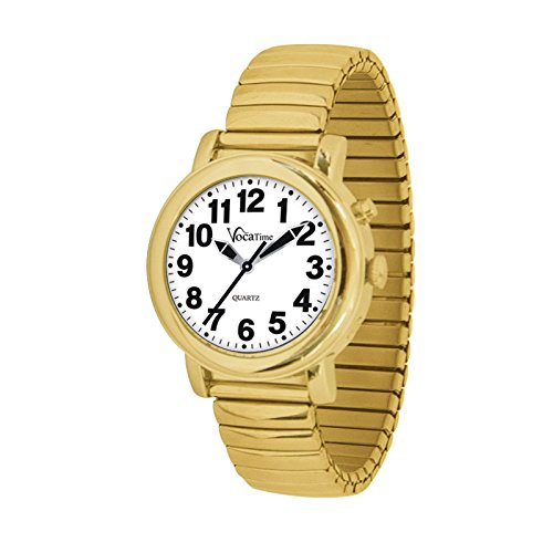 VocaTime Womens Gold Tone Talking Watch - Gold Tone Expansion Band by VocaTime