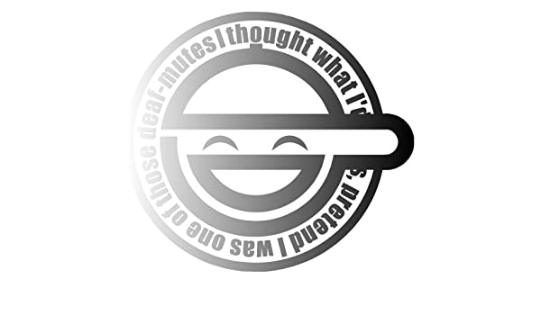 Amazon Com Bamfdecals Laughing Man Ghost In The Shell Vinyl Decal Sticker Small Or Large Sizes Small Silver Automotive