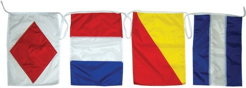 Taylor Made Products 93302 Decorative Code Boat Flag Set, 12 x 18-Inch ()