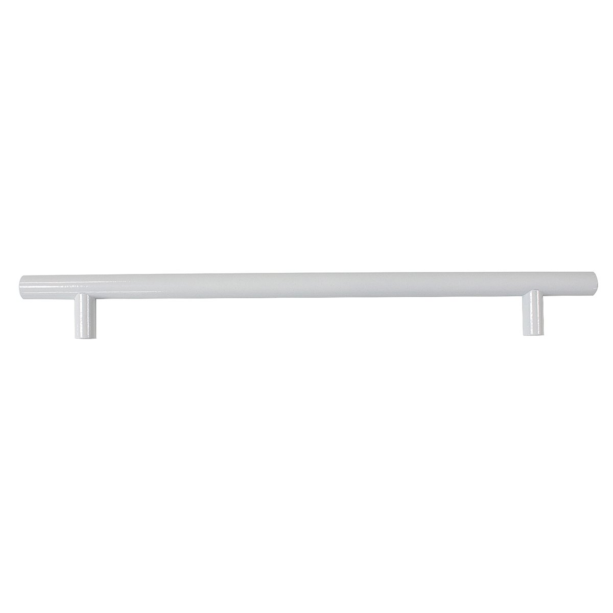 Probrico Modern Cabinet Hardware Dresser Cupboard Handle Pull White Kitchen Cabinet T Bar Knobs Stainless Steel- 12mm Diameter - 8-3/4 Hole Spacing - 5 Pack by Probrico (Image #1)