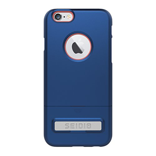Seidio SURFACE with Metal Kickstand Case for iPhone 6/6S [Dual-Layer Protection] - Non-Retail Packaging - Royal Blue/Pink - Hex Saw Band