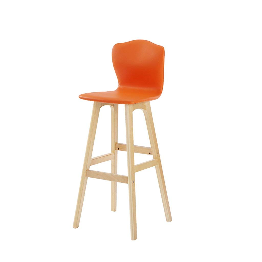C JZX Chairs Stools, High Solid Wood Back Bar Chair,High End Atmosphere Chair Stool