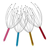 Head Massager Scalp Massager Hand Held Claw Stainless Steel 12-Finger Manual Stress Relief Hair Stimulator Protable