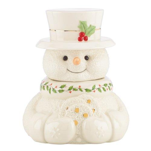 Lenox Happy Holly Days Snowman Cookie (Snowman Cookie Jar)
