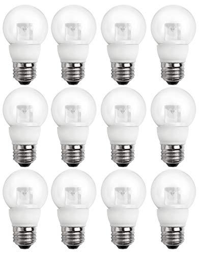 (TCP 25 Watt LED Clear G16, 12 Pack, Soft White (2700K), Medium Base (E26), Dimmable Globe Light Bulbs)