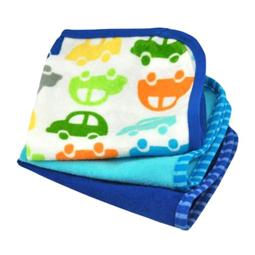 - green sprouts Brights Organic Terry Washcloth, Assorted Royal Print One Size, 2 Count