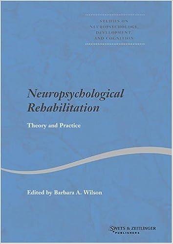 E-kirjat maksuttomia latauksia Neuropsychological Rehabilitation (Studies on Neuropsychology, Neurology and Cognition) PDF FB2 iBook