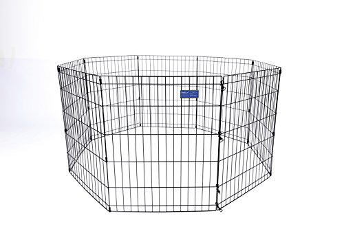 Simply Plus Pets Foldable Metal Exercise Pen/Pet Playpen, For Indoor Home & Out-Door Use. Keeps Pets Safe,Easy Set Up, No Tools Required by Simply Plus
