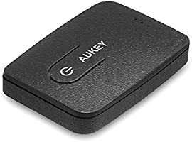 Bluetooth Transmitter, AUKEY Portable Wireless Stereo Music Transmitter Adapter with A2DP and AptX, Simultaneously Pairing with Two Headsets for TV, PC, iPod, MP3, and other 3.5mm Audio Devices