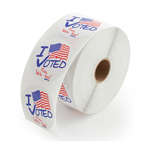 "Kids Vote Too!"" Stickers – 1000 Labels Per Roll, 1 Roll Per Package"