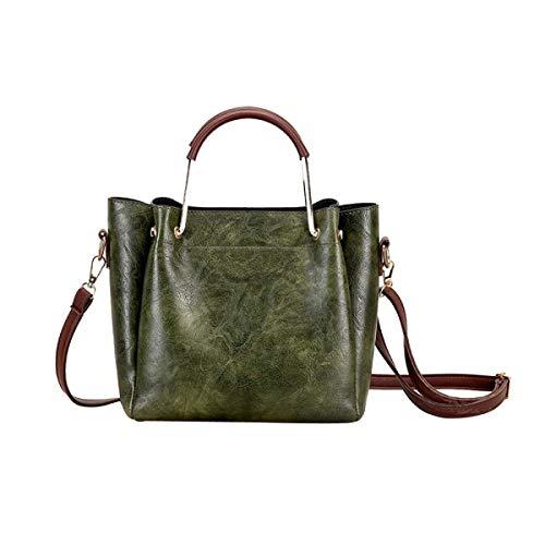 Retro onesize Para Mujer Wild Gray De Moda Hombro Verde Bolsa Sencilla Kits nFpEvxq