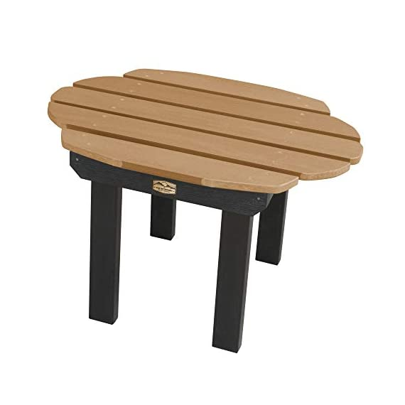 Elk Outdoors EO-TBL-CW2-CAR Side Table, Caribou - Proudly and 100% Made in the USA from our own unique synthetic wood in an environmentally-conscious facility Water and weather resistant Pairs beautifully with the ELK OUTDOORS  Essential Adirondack chair - patio-tables, patio-furniture, patio - 41K1d00AtOL. SS570  -