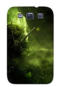 Girl On Green Snail Case Compatible With Galaxy S3/ Hot Protection Case(best Gift Choice For Lovers)