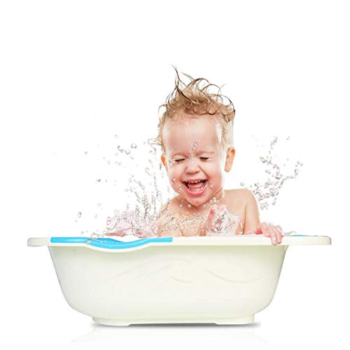 NBRTT Perfect Infant Shower Basin, Eco-Friendly Pp Non-Slip Suction Feet Comfort Tub Summer Newborn to Toddler Bath Center, for Most Tubs and Cubicles