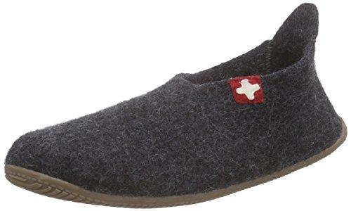 Schweizer Slipper Kitzbühel Pantoffeln Kreuz Grau 600 Herren Living Anthra OHpqwxAEE
