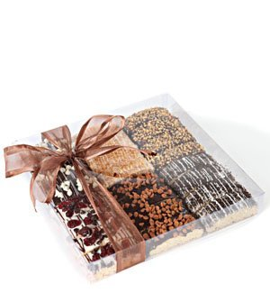 Barnett's Fine Biscotti | Gourmet Hand-Crafted Chocolate Coated Biscotti | 24 Biscotti Cookies in 6 Delicious Flavors | in Elegantly Wrapped Gift Basket