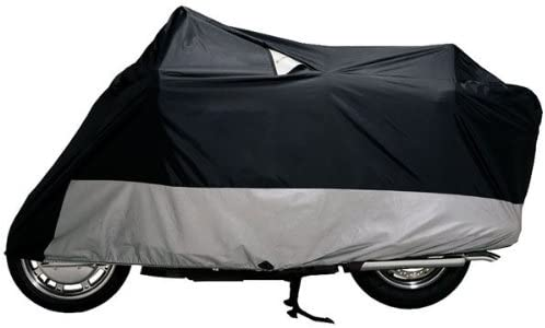 X-Large Black Dowco Guardian 50004-02 WeatherAll Plus Indoor//Outdoor Waterproof Motorcycle Cover