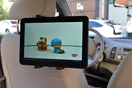 Cargador Mechero USB Soporte Reposacabezas para Tablet Wolder Mitab Yummy 7