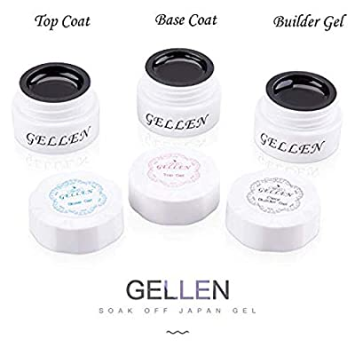 Gellen Gel Nail Polish Starter Kit with 24W LED Dryer Light Base Top Coat, Popular Manicure Tools Nail Style Art Designs Gift Set