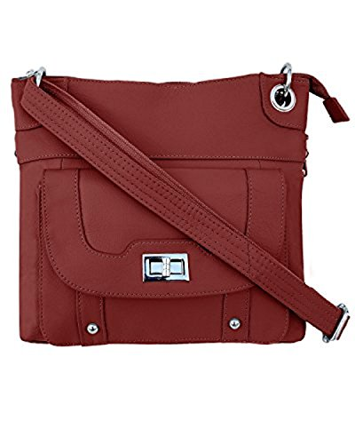 Ladies' Gun Concealment Crossbody Bag Red