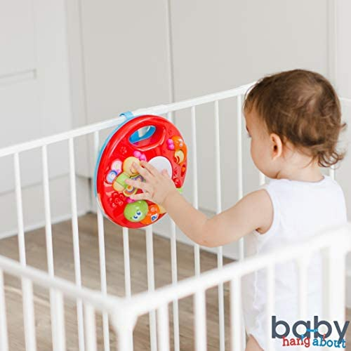 BABY HANG ABOUT PLAYPEN ACCESSORY AND CRIB ACTIVITY CENTER - STAIR GATE ATTACHMENT - CAR ACTIVITY TOY - SAFETY GATE