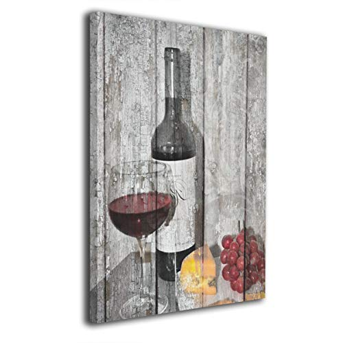 "Ale-art Rustic Wine Cheese Kitchen Modern Canvas Painting Wall Art Pictures for Home Decoration Print On Canvas Giclee Artwork Wall Decor 16""x20"" from Ale-art"