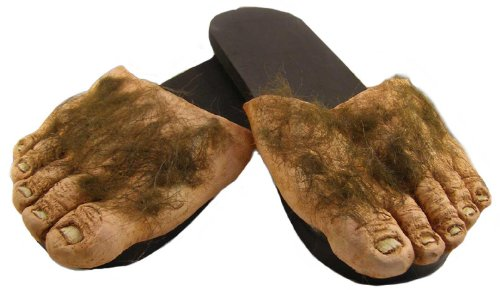 Big Ol' Hairy Costume Feet Tan -