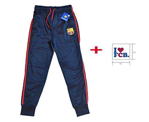 FC Barcelona Navy Joggers Sweatpants Fleece Pants Mens Adults + Sticker