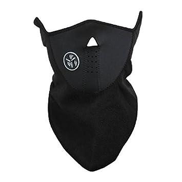 Máscara protección respiratoria a prueba de viento revestimiento para la moto - Negro: Amazon.es: Hogar